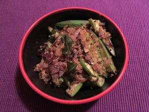 Okra with Onions and Coconut
