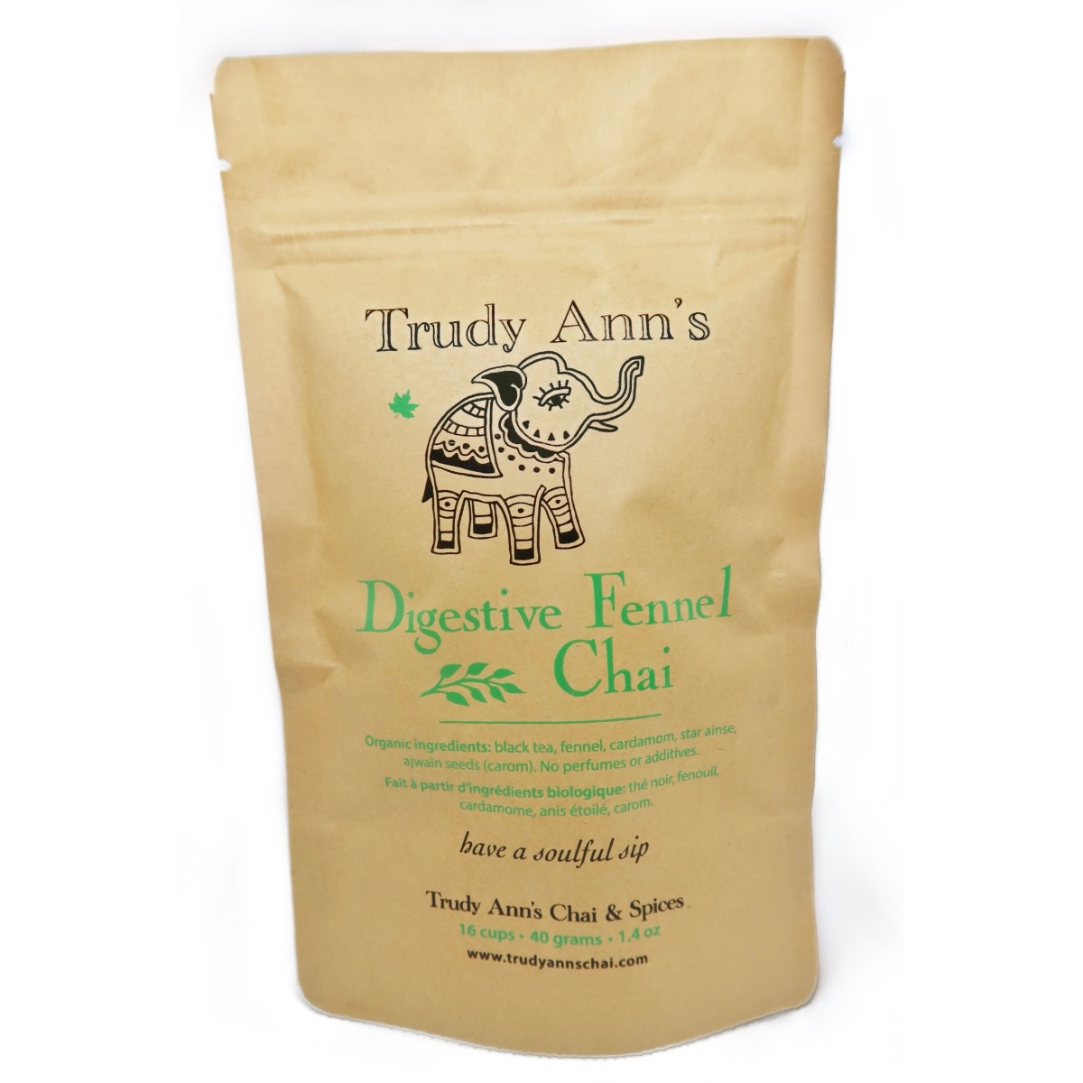 Digestive Fennel Chai – Front