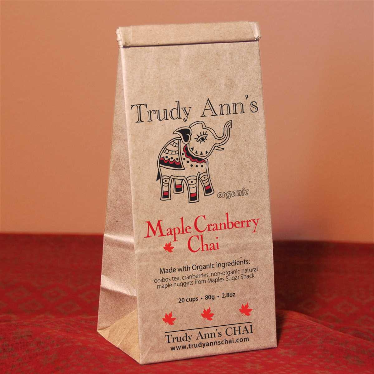 Maple Cranberry Chai