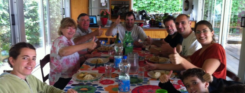Llonch- Vidalle Family enjoying my Coconut curry in Argentina.